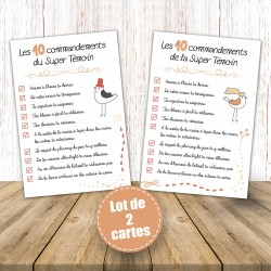 Carte, 10 commandements super témoin @1