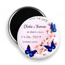 Magnet save the date, Magnet PERSONNALISABLE 44mm, Annonce Mariage @3