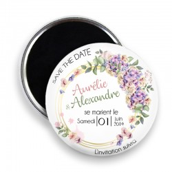 Magnet save the date, Magnet PERSONNALISABLE 44mm, Annonce Mariage @5