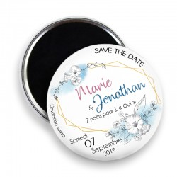 Magnet save the date, Magnet PERSONNALISABLE 44mm, Annonce Mariage @9
