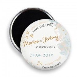 Magnet save the date, Magnet PERSONNALISABLE 44mm, Annonce Mariage @11