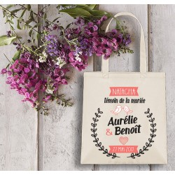 Grand tote bag, EVJF, témoin, mariage, sac personnalisable