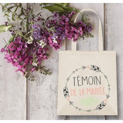 Tote bag, mariage,  EVJF, témoin,  sac personnalisable