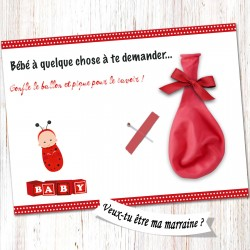 Carte surprise marraine -CB06