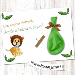 Carte surprise parrain -CB08